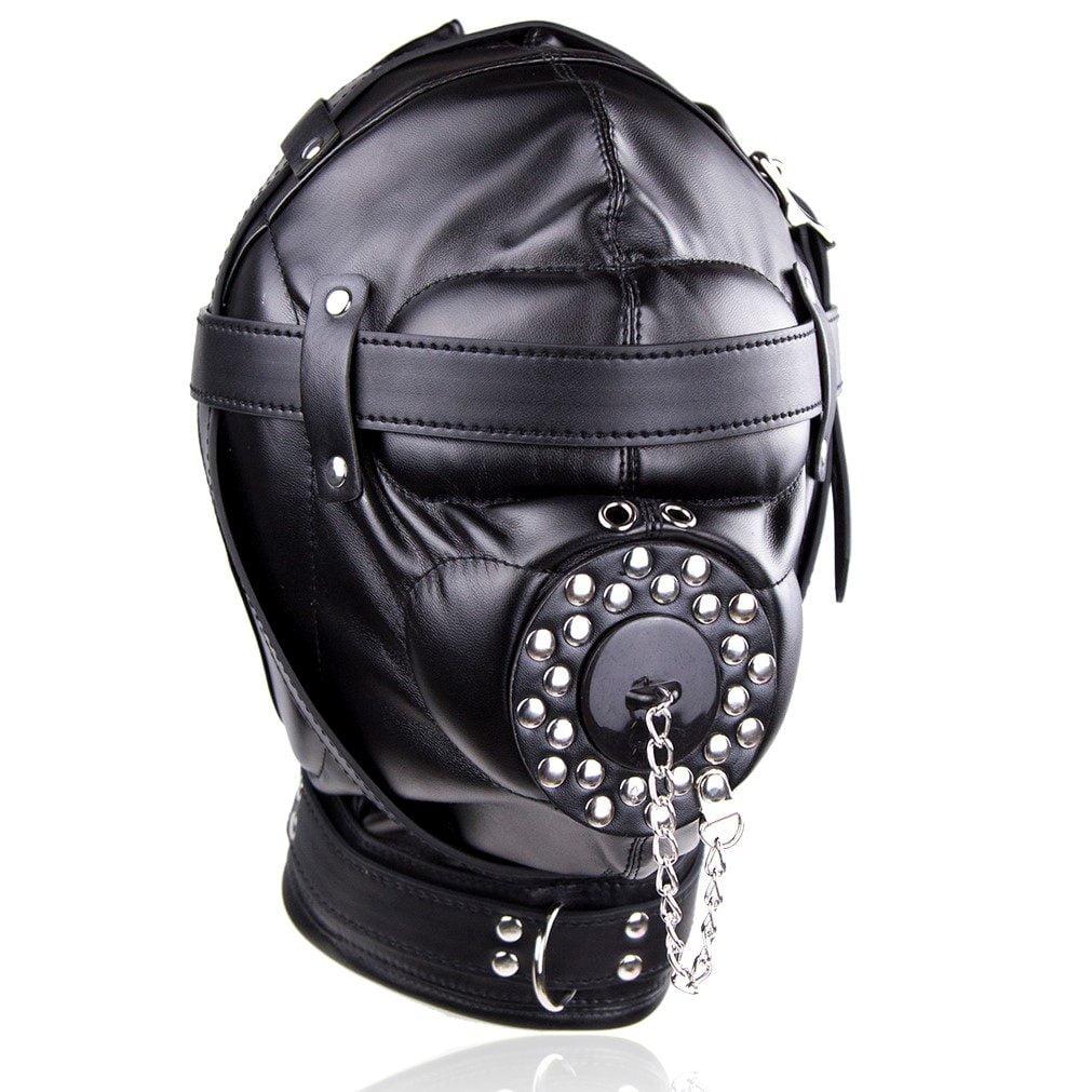 Depraved Stopper Black - Zwart Masker Van Pu Leer - Banoch-9469